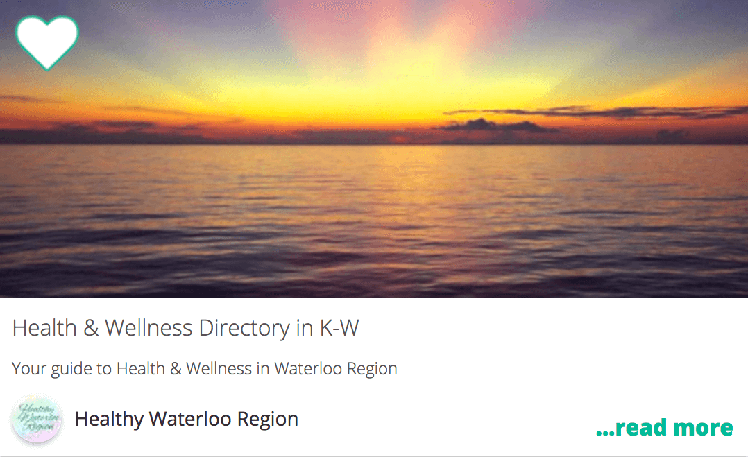 Health and Wellness Directory in K-W