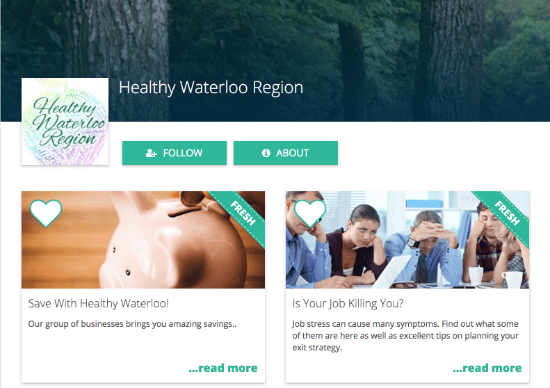 Healthy Waterloo Region klusster